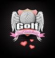 happy valentine day and golf vector image