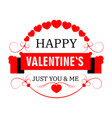 happy valentine day isolated icon winter holiday vector image
