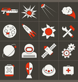Icons space in flat style color vector image vector image