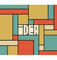 Idea word typography background vector image vector image