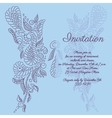 invitation Blue butterfly pattern vector image vector image