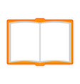 isolated empty notebook icon vector image vector image