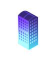 isometric night building vector image vector image