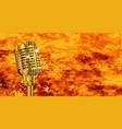 karaoke microphone on fire vector image vector image