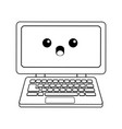 kawaii laptop computer device technology wireless vector image vector image