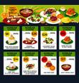 korean cuisine restaurant lunch menu card design vector image vector image