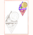 landscape of planet rhombus moon vector image vector image