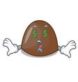 money eye chocolate candies mascot cartoon vector image vector image