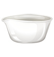 Mortar bowl on white vector image vector image