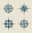 old or retro compass or vintage wind roses vector image vector image