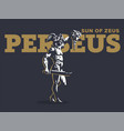 perseus with head medusa vector image vector image