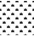prince crown pattern seamless vector image vector image