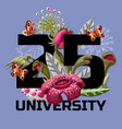 print for t-shirt with plant predators flowers vector image vector image