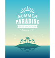 Retro Summer Holidays Vintage Label Design vector image vector image