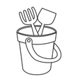 sand bucket toy icon vector image vector image