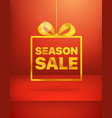 season sale advertising concept vector image vector image