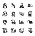 set education icons such as diagram graph vector image vector image