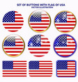 set of banners with flag of usa vector image