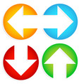 set of colorful left-right up-down arrows cut in vector image vector image