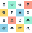 set of simple mailing icons vector image vector image