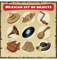 Set of traditional Mexican things vector image