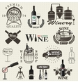 set wine signs badges vector image vector image