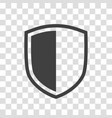 shield icon isolated on transparent background vector image vector image