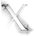 Sketch font Letter x vector image vector image