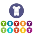 Sport shirt and shorts set icons vector image vector image
