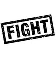 square grunge black fight stamp vector image vector image