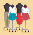 stylish woman fashion clothes vector image
