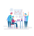 teamwork business character concept flat design vector image
