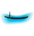 venice romantic gondolier carries a woman in a vector image
