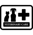 veterinary care icon on black frame vector image