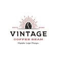 vintage hipster coffee bean roaster logo design vector image
