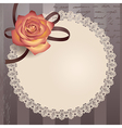 vintage lace round vector image vector image