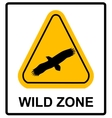 warning sign danger signal with eagle vector image vector image
