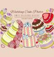 wedding cake poster sweet vector image