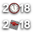 white 2018 new year signs vector image vector image