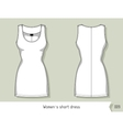 Women short dress Template for design easily vector image vector image