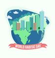 world habitat day vector image vector image