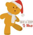 A Teddy Xmas vector image vector image