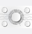 abstract futuristic circuit board on light gray vector image vector image
