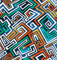 abstract maze seamless pattern vector image