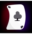 Ace of clubs playing card icon cartoon style vector image vector image