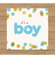 baby shower card boy vector image vector image