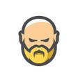 bald man with beard cartoon