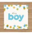 bashower card boy vector image vector image