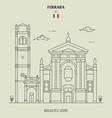 basilica st george in ferrara italy vector image vector image