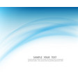 blue curve abstract background vector image vector image